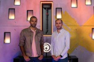 Tony Parker i François-Xavier Dénièle w siedzibie Ubisoft.